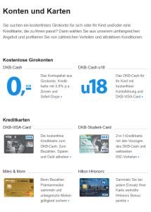 Dkb Kostenloses Girokonto Visa Kreditkarte 022019